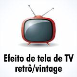 Efeito TV vintage/tela de televisão retrô